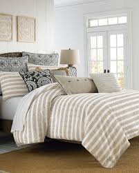Vince Camuto Bedding by Vince Camuto Lille Striped And Gold Comforter Set King Size