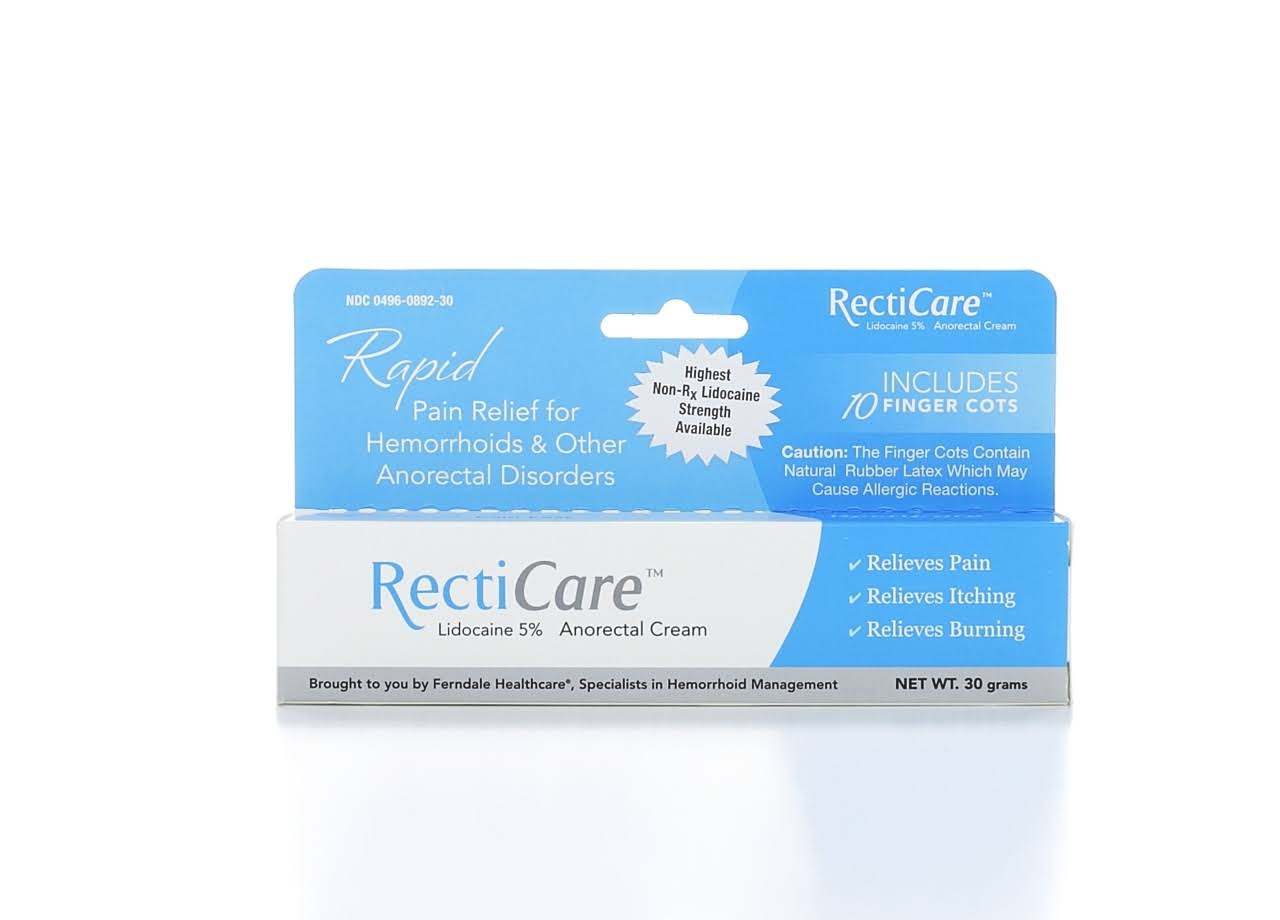 Recti Care Rapid Lidocaine Anorectal Cream - 30g