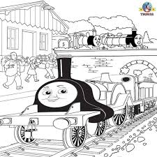 Thomas And Friends Emily The Train Coloring Scottish Steam Engine Line Pictures To Color Print