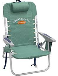 Tommy Bahama Reclining Folding Chair by Amazon Com Tommy Bahama Hi Boy Folding Beach Chair Blue