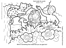 In The Beginning God Created Coloring Pages 1
