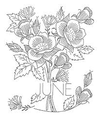 Month Flowers Embroidery 6 Of 12