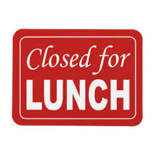 Closed For Lunch Sign Magnet