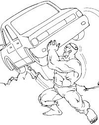 Hulk Coloring Pages Coloringploofr