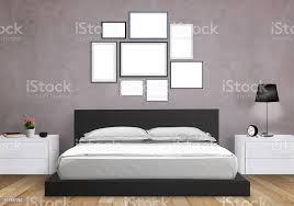 isolierte kunst leinwand im schlafzimmer stockfoto und mehr bilder architektur