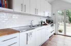 white tile backsplash subway in kitchen lovely on intended 8