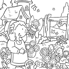Garden Coloring Page Free Printable Pages Gardens And Gardening