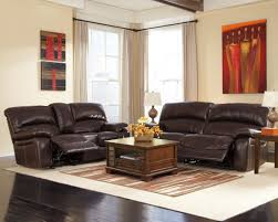 Ashley Furniture Hogan Reclining Sofa by Damacio Dark Brown 2 Seat Power Reclining Sofa From Ashley