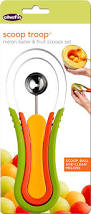 Chef Decor At Target by Amazon Com Chef U0027n Scoop Troop Melon Baller And Fruit Scoop Set