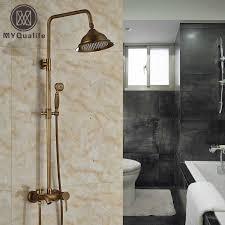 messing antik outdoor dusche wasserhahn wandhalterung 8 bad dusche mischbatterie einhand höhe einstellen