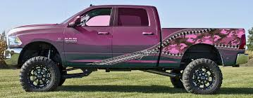 100 Pink Camo Trucks Zipper Illusion Side Wave Woodland Wrap Graphics
