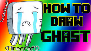 How To Draw Ghast From Minecraft YouCanDrawIt 1080p HD