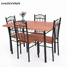 Ikayaa 5Pcs Dining Table Chairs Set Wood Steel Frame ... Giantex 3 Pcs Bistro Ding Set Table And 2 Chairs Kitchen Fniture Pub Home Restaurant Chair Sets Coffee Corner Of Wood And Design Stock 112 Scale Dollhouse Miniature Plastic Dolls House Decor Accsories Toys Keeran My Mission Is To Find A Table Outdoor Astonishing Modern Long Of Two For Garden Porch Or Cafe Customized Solid Round Buy Tables Chairsding In The Philippines 61 Tall Bar Pani 28 Inch With 4 Foldable Contemporary Ygrds9t853c