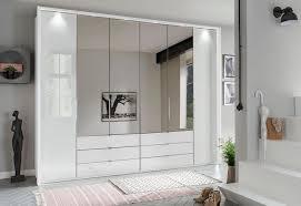 wiemann falttürenschrank kansas mit spiegel und glas