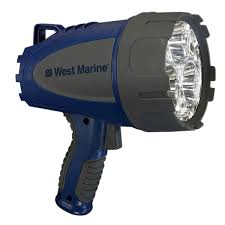 Waterproof 1300 Lumen Rechargeable LED Spotlight WEST MARINE