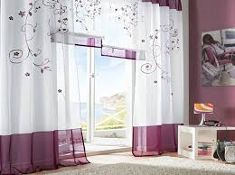 Sidelight Window Curtains Amazon by Amazon Com Uphome 1 Pair Floral Embroidered Tab Top Sheer Window