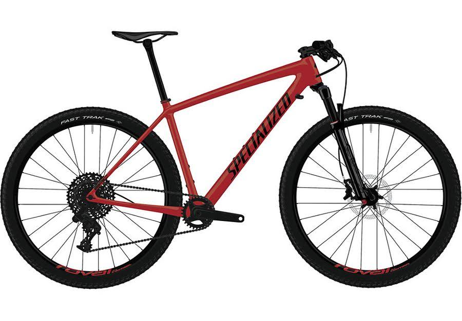 Specialized Epic Hardtail Comp - 2019 Satin Flo Red/Black / LG