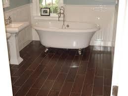 bathroom bright white bathroom tub on brown ceramics
