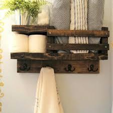 Bathroom Towel Rack With Shelf Innovation Rustic Shelves