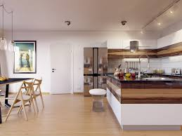 Kitchen Diner Booth Ideas by Neutral Kitchen Ideas With Interior Wood Tones And Brown Floor