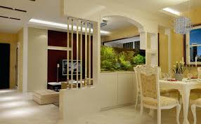 Wall Between Dinning And Living Room Partition For Dining With Aquarium Kitchen Hall Ideas