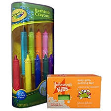 amazon com crayola bathtub crayons with crayola color bath drops