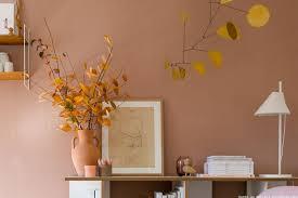 wandfarben in warmen farbnuancen kolorat i farben