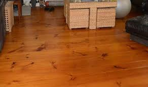 Eastern White Pine Wide Plank Floor Close Up