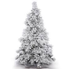 Vickerman 65 Flocked Alberta Artificial Christmas Tree Unlit