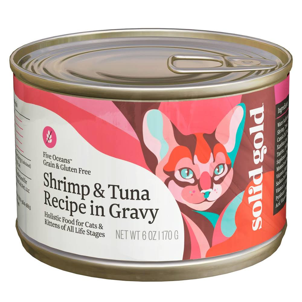 Solid Gold Five Oceans Holistic Wet Cat Food - Shrimp & Tuna