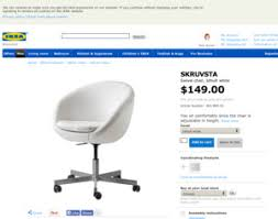 Skruvsta Swivel Chair Idhult White by Ikea Skruvsta Swivel Chair Idhult White Ikea