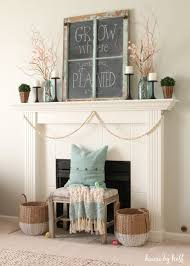 Opening The Vaults 10 Pretty Spring Vignettes Decorating A MantleMantels