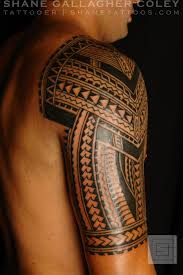 Right Sleeve Maori Polynesian Tribal Tattoos Photo