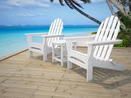 Polywood Adirondack Chairs Folding by White Polywood Adirondack Chairs Outdoor At The Beach Polywood