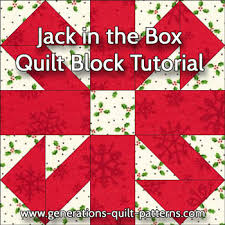 jack in the box quilt block illustrated step by step instructins