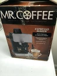 Mr Coffee Pump Espresso Maker Steam Cappuccino Machine