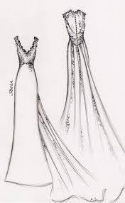 Brides Wedding Dress Sketch 2