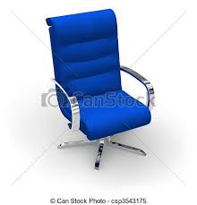 Blue Stylish Office Chair Stock Illustration
