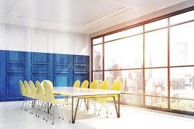 le de bureau york intérieur de bureau de york avec le mur bleu illustration