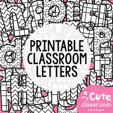 Printable Letters for the Classroom Bulletin Boards Decor} by