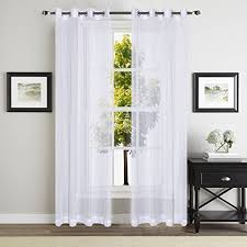 sheer cotton curtains amazon com