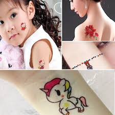 Get Quotations Adult Children Water Transfer Stickers Hello Kitty Butterfly Fake Tattoo Waterproof Tattoos Painted Animals
