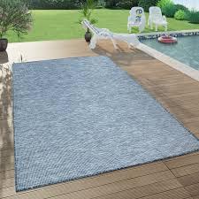 in outdoor teppich für wohnzimmer balkon terrasse flachgewebe in dunkel blau
