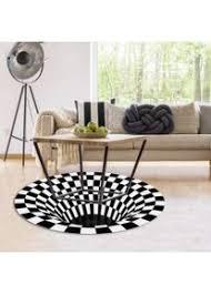 phezen dekorative runder teppiche 3d wirbel druck optischer