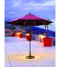 9 Ft Patio Umbrellas With Tilt by Evening Party Umbrellas Led Lighted Galtech 9 Ft Auto Tilt Patio