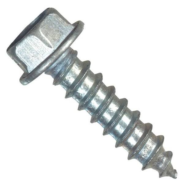 "The Hillman Group 70295 Hex Washer Head Slotted Sheet Metal Screw - 100pk, 10""x3/4"""
