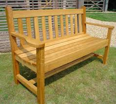 Garden bench and seat pads Outside Bench Ideas Park Bench Plans