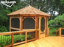 Stunning Screened Gazebo Photos by Adorable Concept Ideas Enclosed Gazebo Design Ideas Deck With Roof