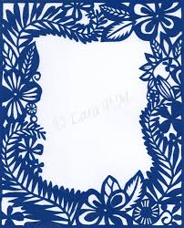 Papercutting Floral Border By Karatechick13