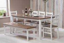 Solid Pine Wood Dining Set Table And Chairs Bench Kitchen Home Furniture